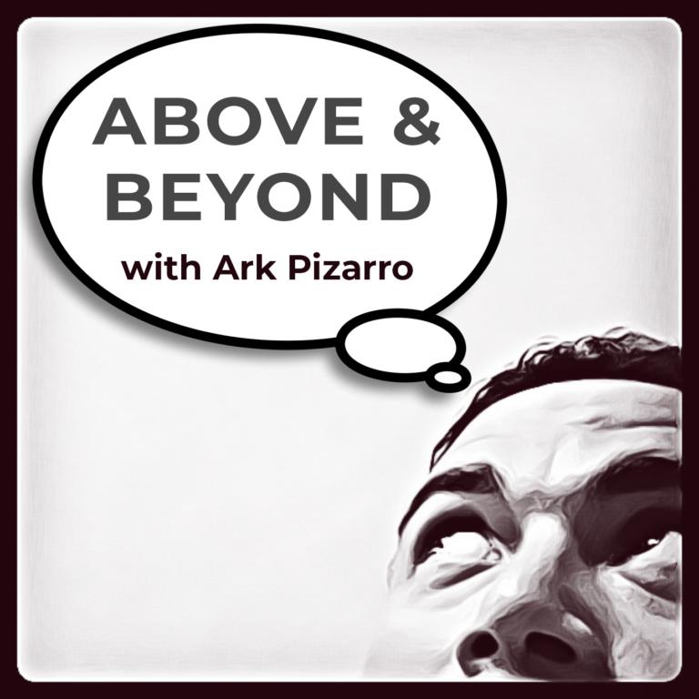 Ark Pizarro looking upward